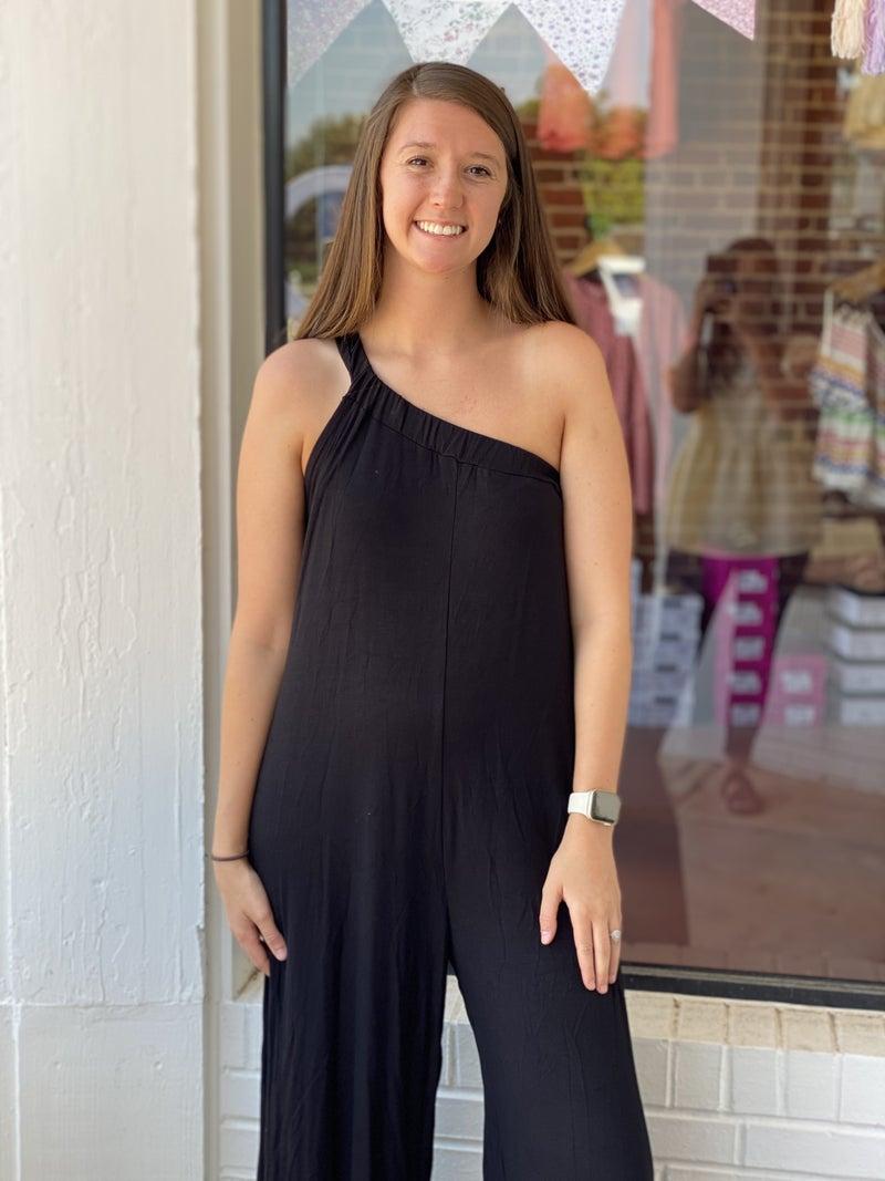 Chic In Black Jumpsuit