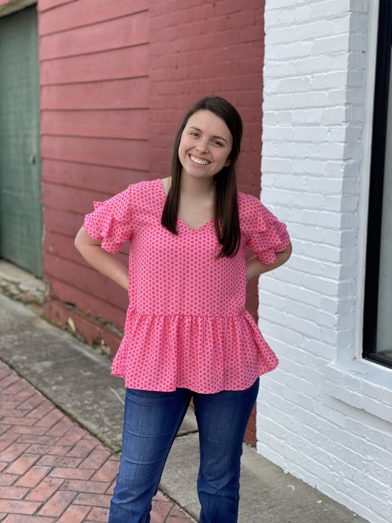 Speckled With Love pink Top