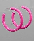 Hey Barbie-Hot Pink Earrings