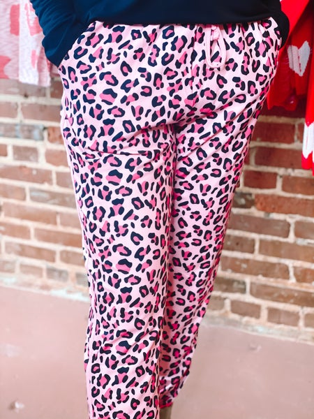 Gossip Girl Leopard joggers *Final Sale*