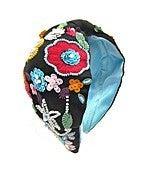 Floral Beaded Embroidery Headbandz
