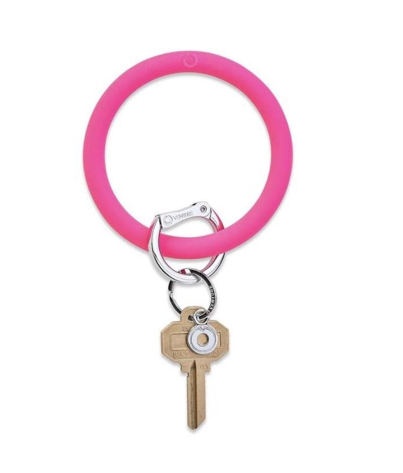 Silicone Big O Key Ring *Tickled Pink*
