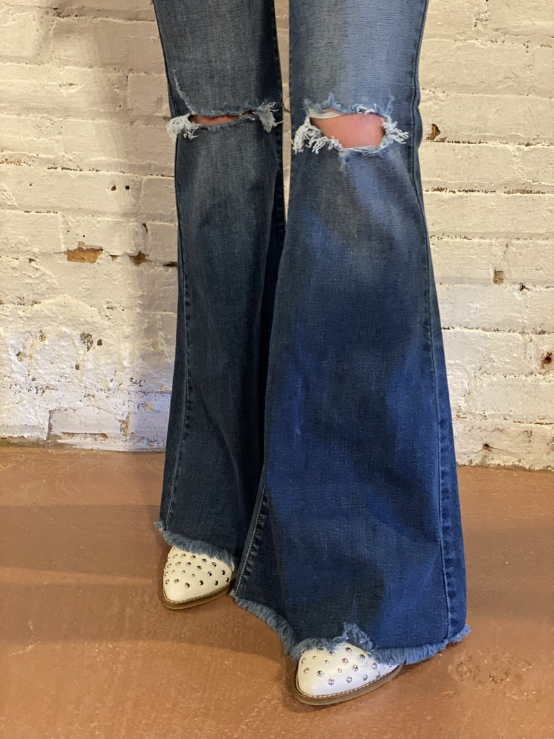 Sneak Peak High Rise Flare Jeans