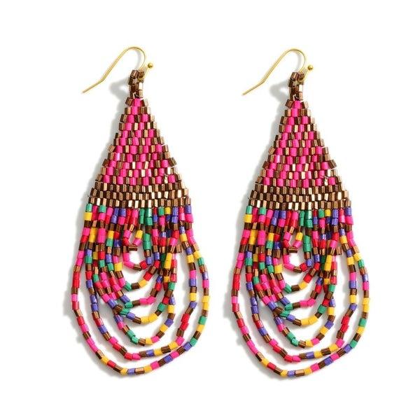 Bay Islands Beaded Earrings