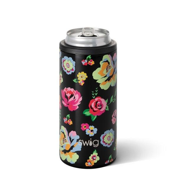 Swig-Fleur Noir Skinny Can Cooler (12oz)