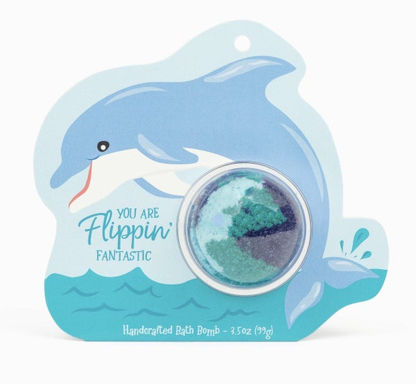 You Are Flippin' Fantastic Dolphin Clamshell Bath Bomb