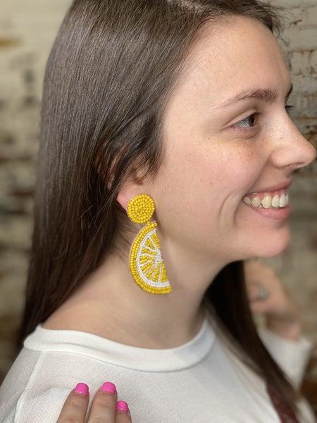 Easy Peasy Lemon Squeezy Beaded Earrings
