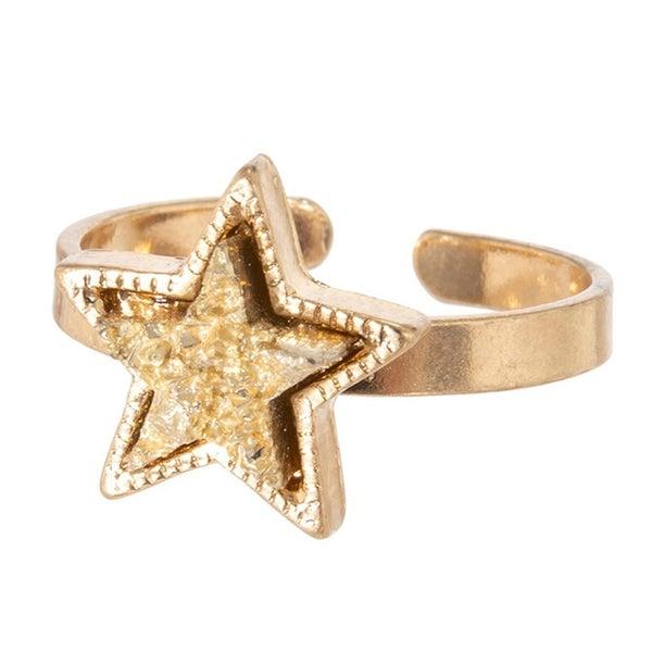 Druzy Star Ring *Gold*
