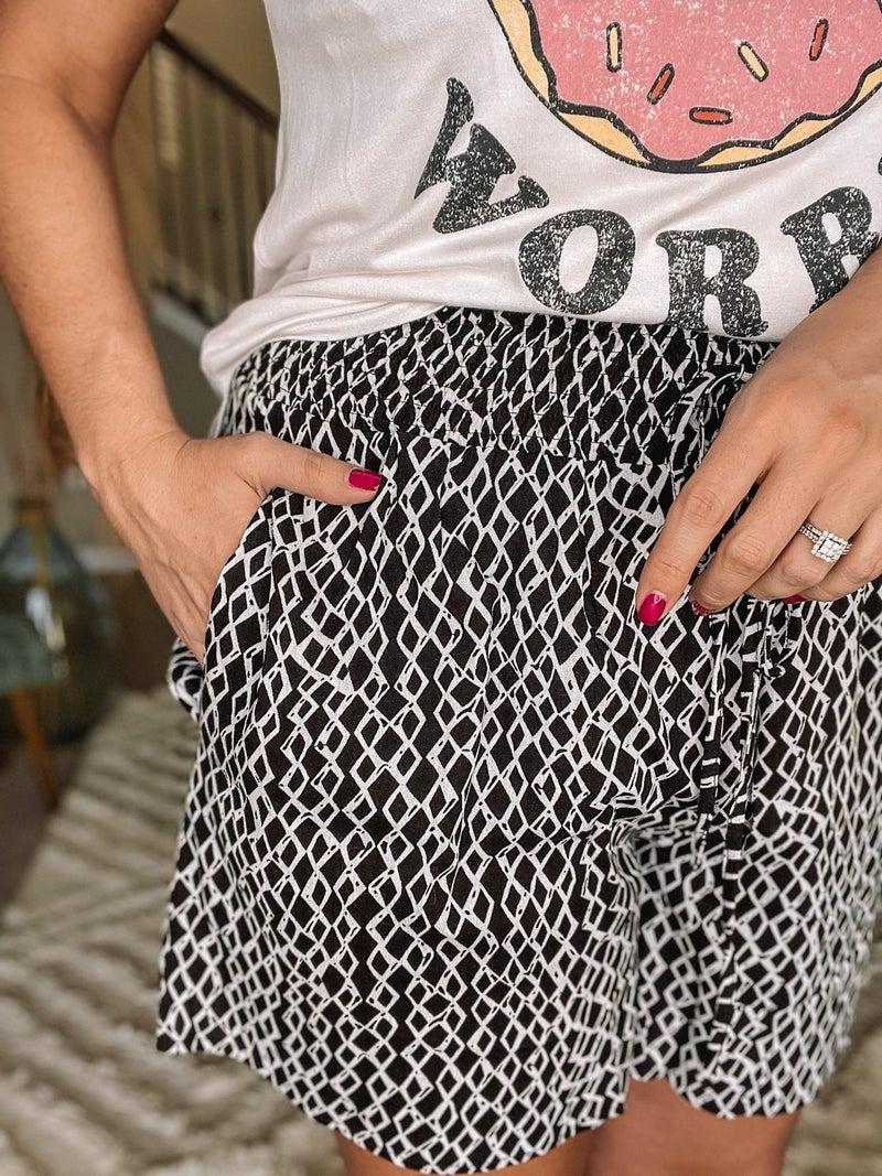 Pop of Print Shorts