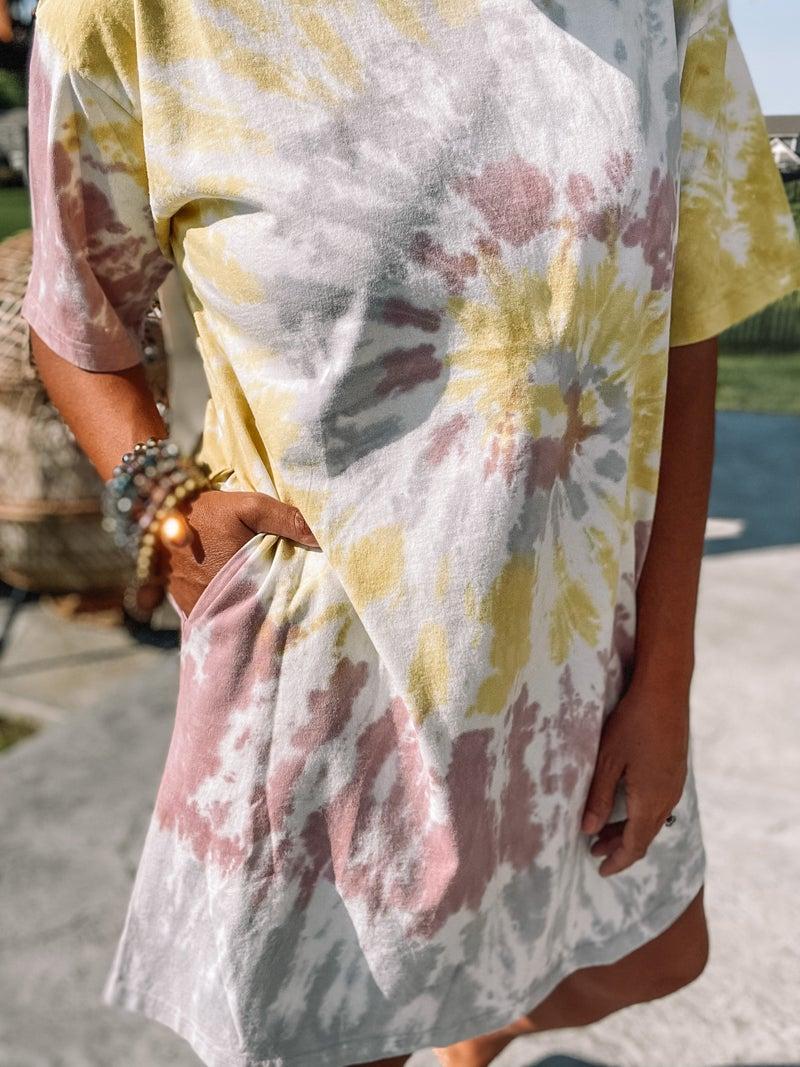 Muted Tie Dye Dress