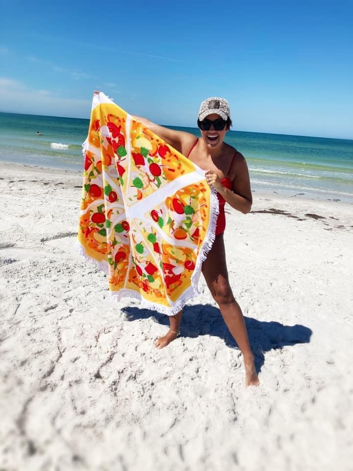 Large Round Beach Towel