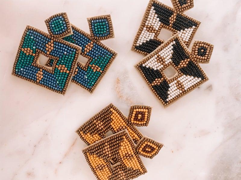 Beaded Beauty Earrings *Final Sale*