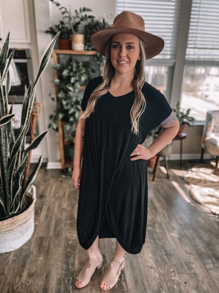 Comfy Little Black Dress