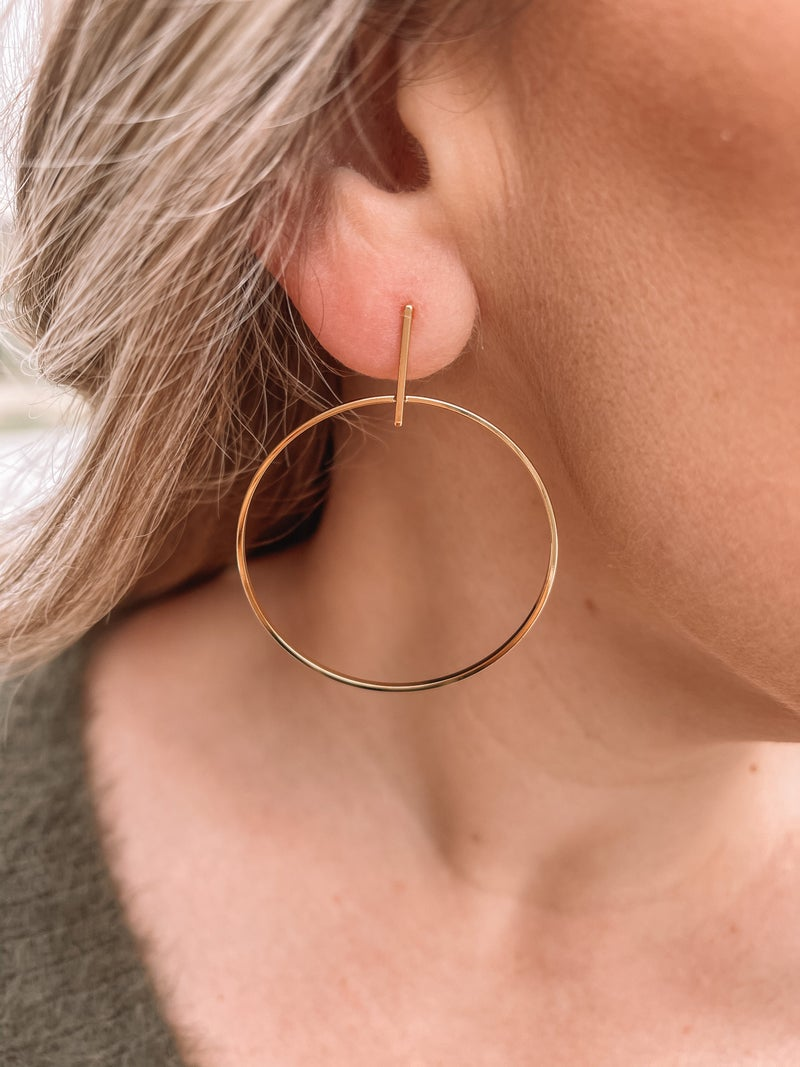 Holiday Hoops Earrings