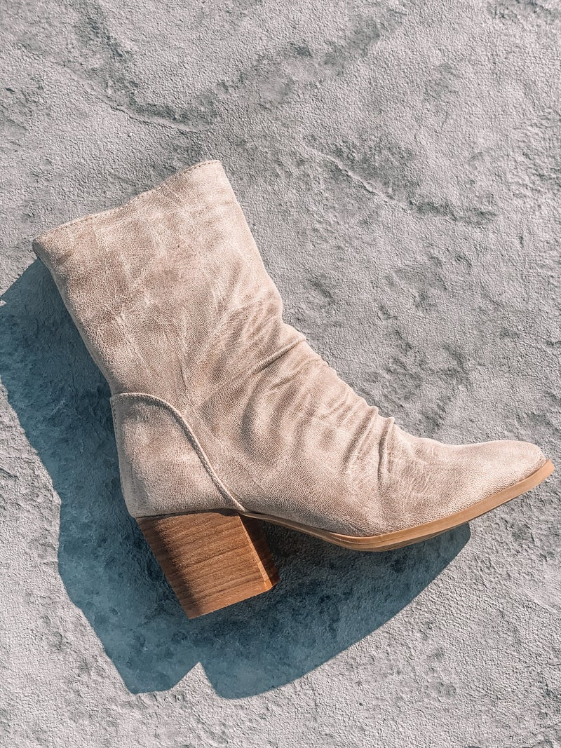 Distressed City Booties