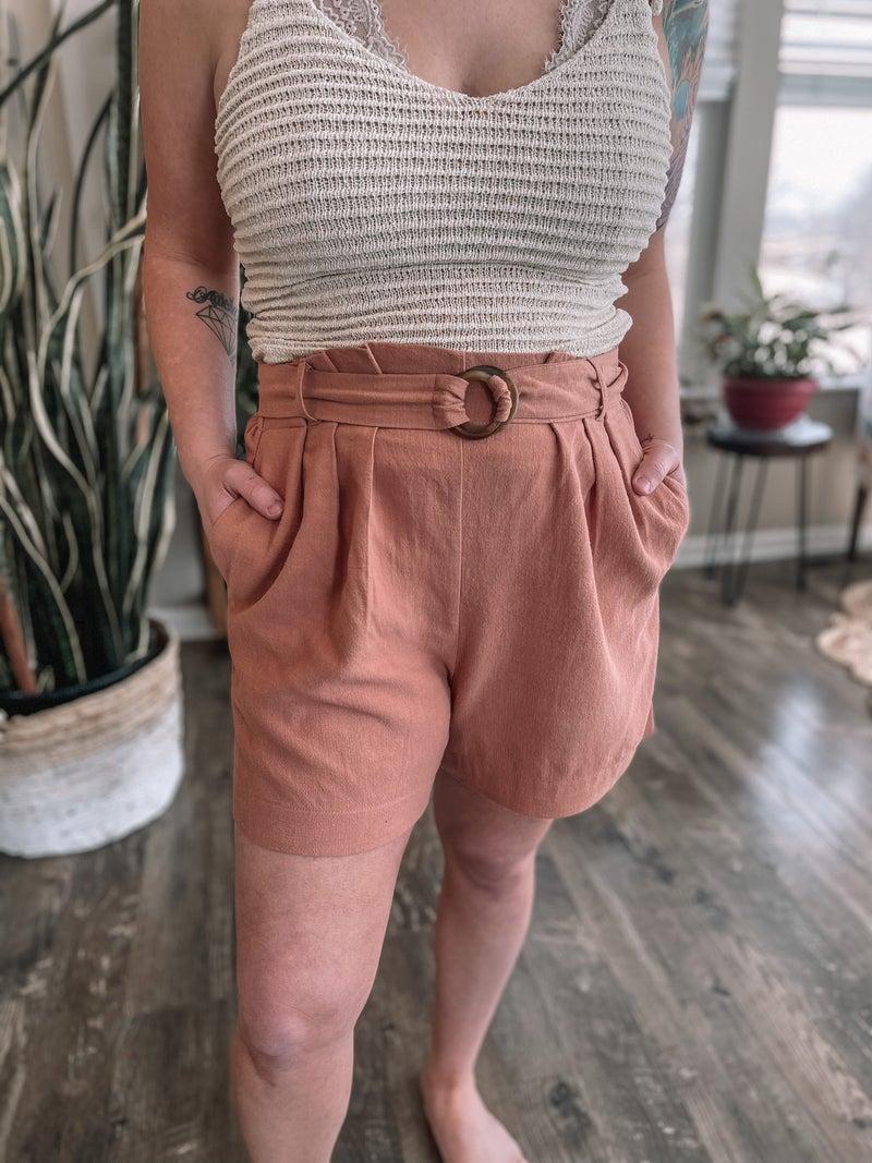 Washed Mauve Shorts *Final Sale*