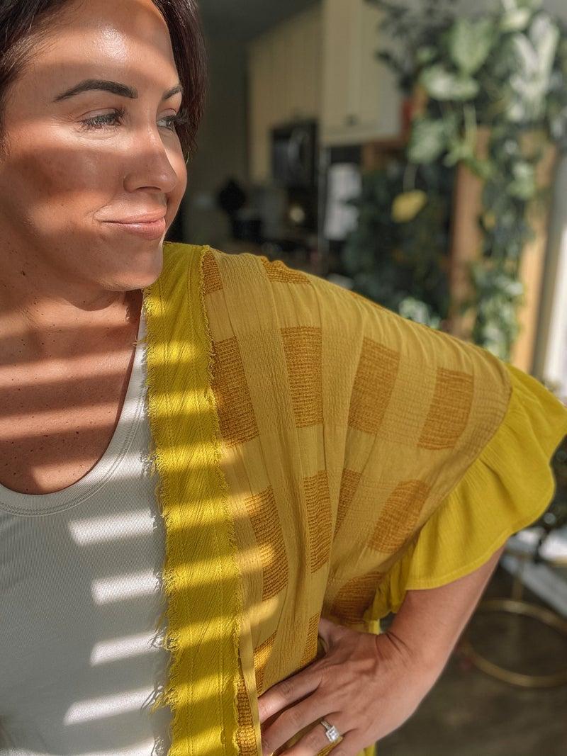 Mad for Mustard Kimono
