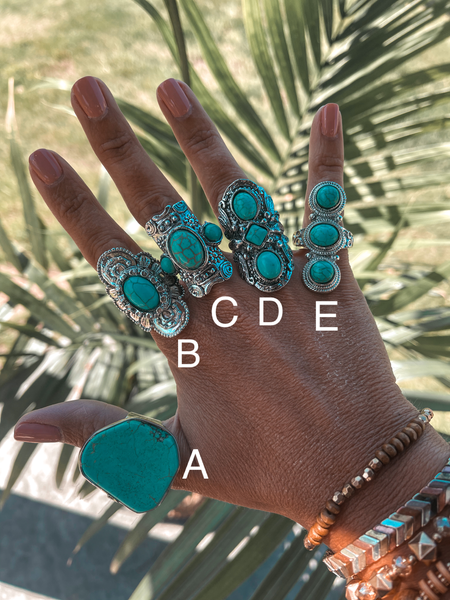 Texas Turquoise Rings