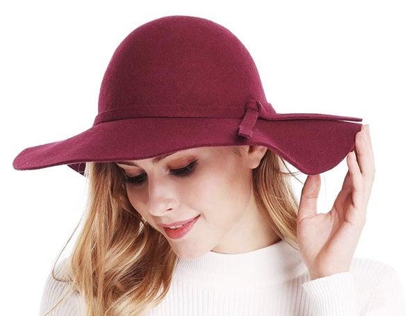 Maroon Floppy Hat