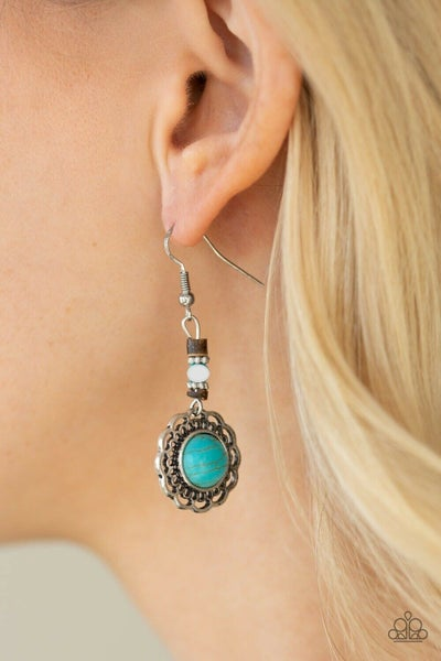 Desert Bliss - Silver with Turquoise Stone Earrings
