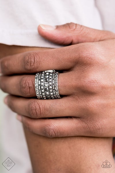 Target Locked - Silver with Hematite Ring