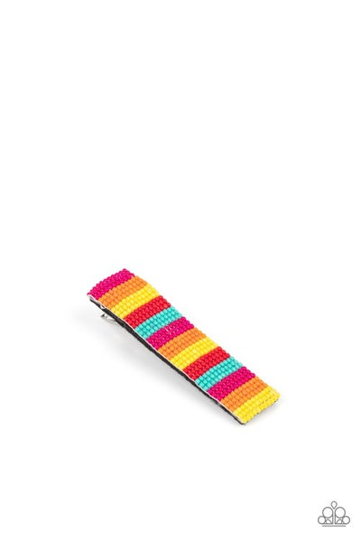 Pre-Sale - All I BEAD Is You - Multi-colored Seed Bead Hair Clip