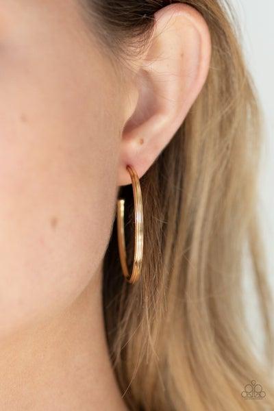 Chic As Can Be - Gold Hoop Earrings