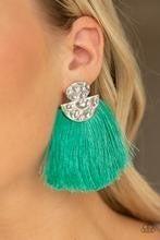 Make Some PLUME - Green Post Earrings