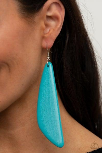 Pre-Sale Scuba Dream - Blue Wood Earrings