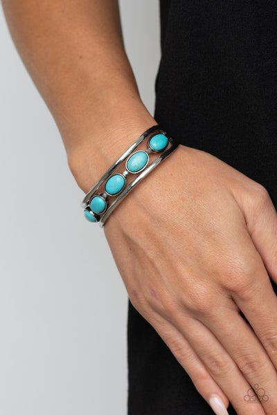 Pre-Sale River Rock Canyons - Silver with Turquoise stones Cuff Bracelet