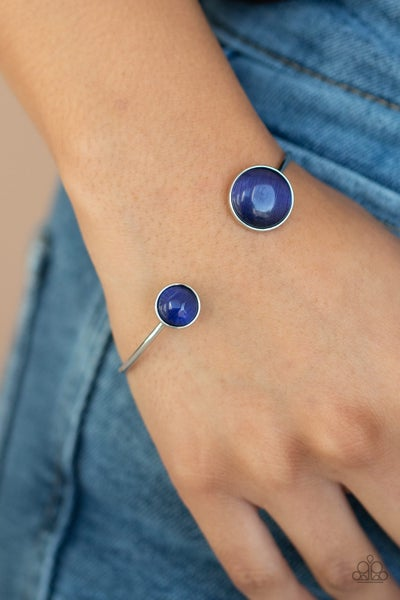Brilliantly Basic - Silver Cuff  with Blue Moonstones Bracelet