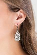 Sparkling Sparkle-naire - Black Earrings