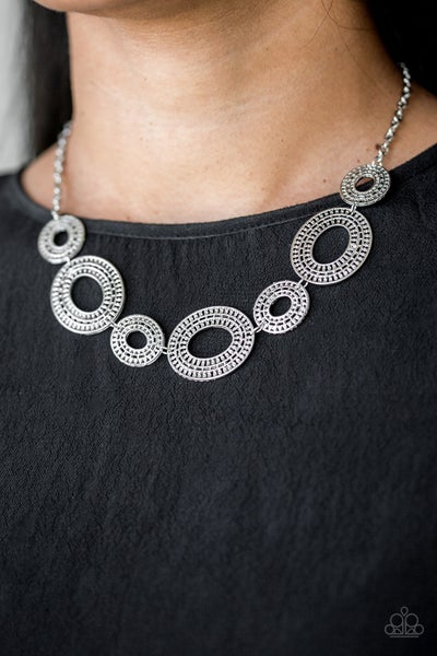 Basically Baltic - Silver Oval Necklace & Earrings