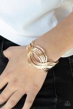 Curvaceous Curves - Gold Bracelet