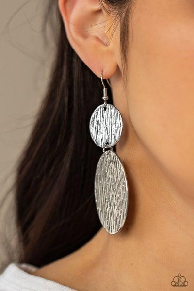 Status CYMBAL - Silver disc Earrings