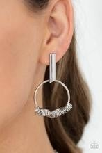 Set Into Motion - Silver Post Earrings