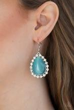 Teardrop Trendsetter - Blue Moonstone Earrings