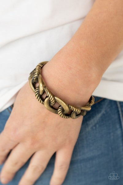 Pre-Order Bold Move -Chunky Brass hinged Cuff Bracelet