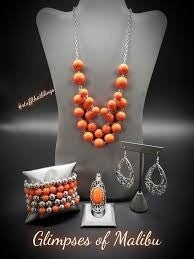 Glimpses of Malibu - Silver with Orange Bead Complete Trend Blend 11-19