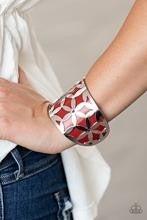 Garden Fiesta - Red Cuff Bracelet