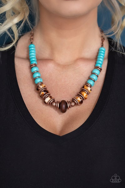 Desert Tranquility - Copper & Turquoise Necklace
