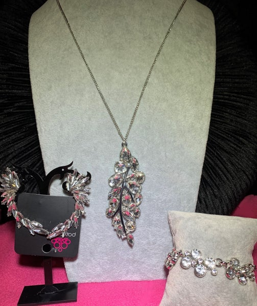 Take a Final Bough (12-2020 Life of the Party), Because ICE Said So & Old Hollywood - Silver with Bling 3 Piece Set