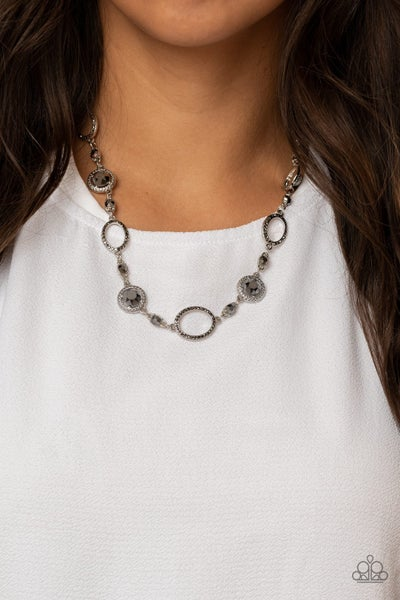 Pushing Your LUXE - Silver with Hematite Necklace & Earrings