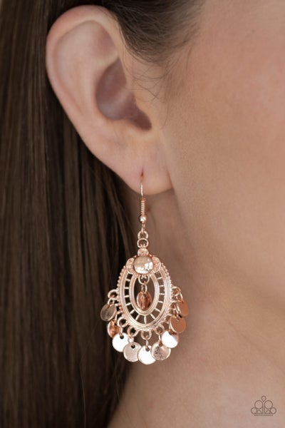 Chime Chic - Rose Gold Chandelier Earrings