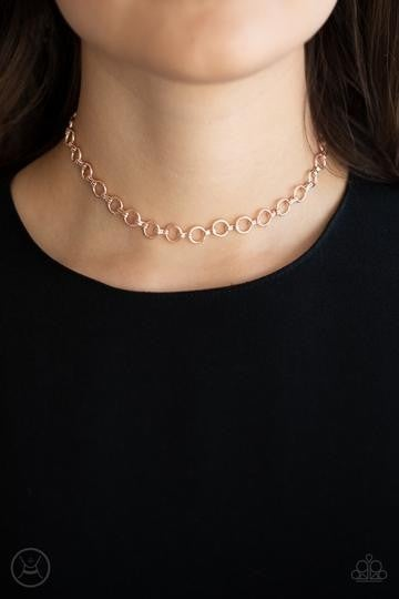 INSTA CONNECTION - ROSE GOLD CHOKER NECKLACE