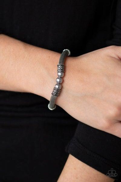 Talk Some SENSEI - Silver ornate Stretch Bracelet