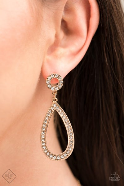 Pre-Sale Regal Revival - Gold with Gold & White Rhinestone Earrings