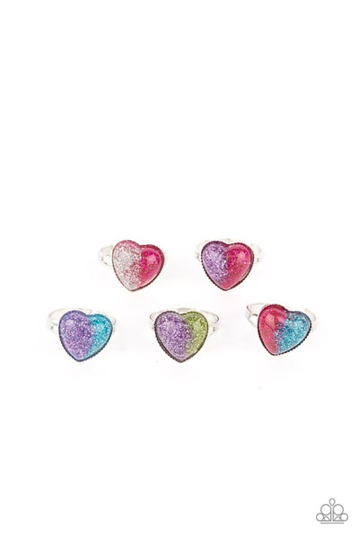 Assorted Color combinations Heart-Shaped Rings for Kids or the Kid at Heart