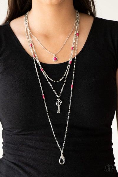 Key Keynote - Pink Lanyard Necklace