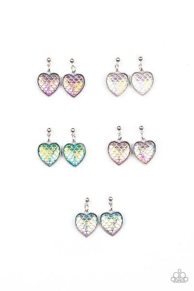 Mermaid Scaled Hearts - Kid's Earrings